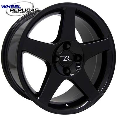 17x9 Gloss Black 03 Style Wheel 4 Lug