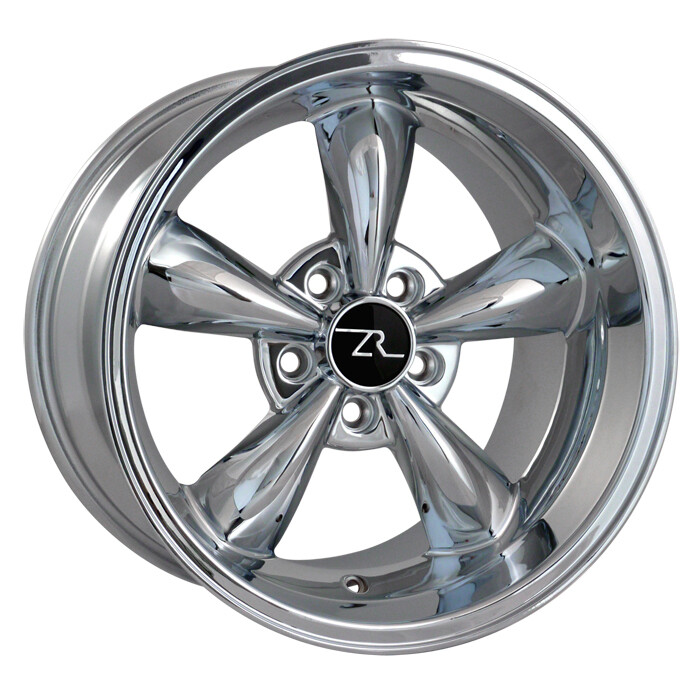 17x10.5 Chrome Bullitt Style Wheel