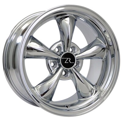 17x9 Chrome Bullitt Style Wheel