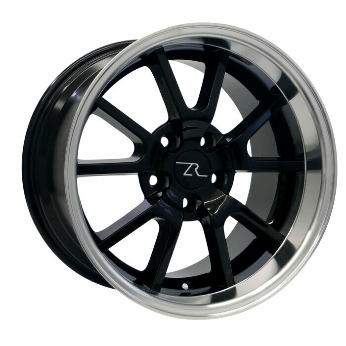 17x10.5 Gloss Black with Mirror Lip FR500 Style Wheel