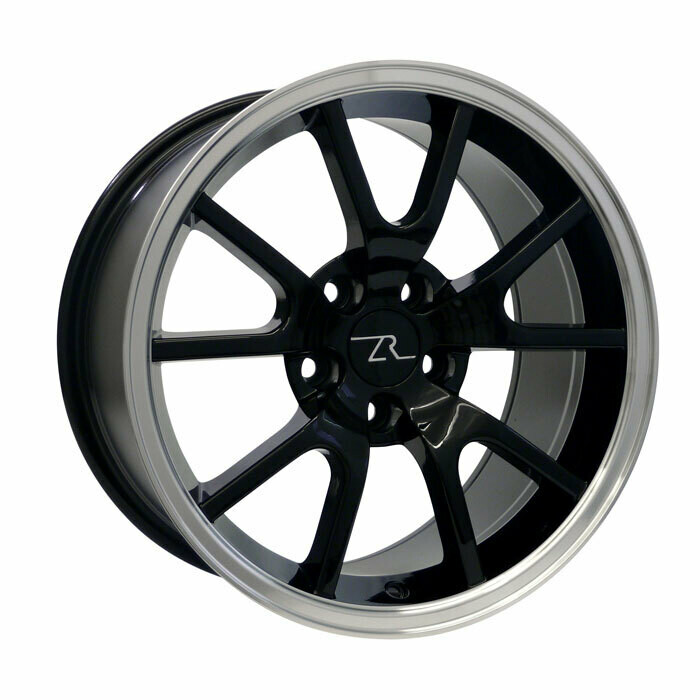 17x9 Gloss Black with Mirror LIp FR500 Style Wheel