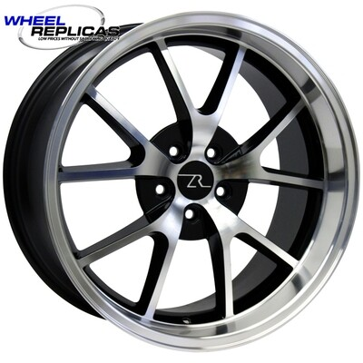 20x10 Gloss Black with Mirror Face FR500 Style Wheel