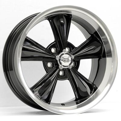 17x8 Gloss Black MD Classic Wheel