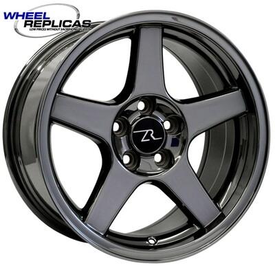 17x9 Black Chrome 03 Dish Style Wheel