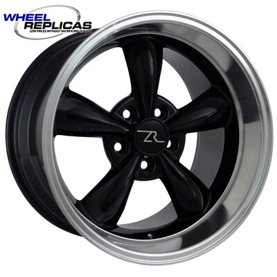 17x10.5 Black Bullitt Style Wheel