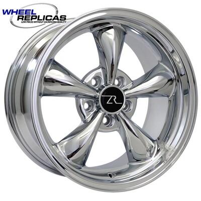 17x9 Chrome Bullitt Style Wheel