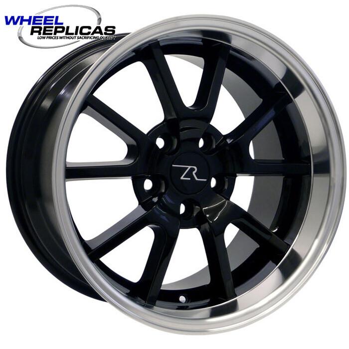 17x10.5 Gloss Black with Mirror Lip FR500 Style Wheel
