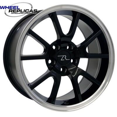 17x9 Gloss Black with Mirror LIp FR500 Style Wheel