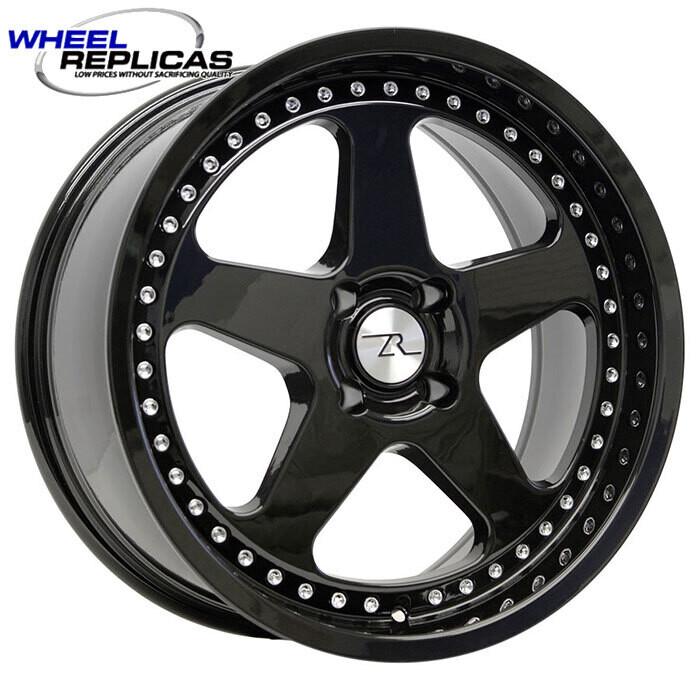 18x8.5 Jet Black SC Motorsport Style Wheel 4 Lug