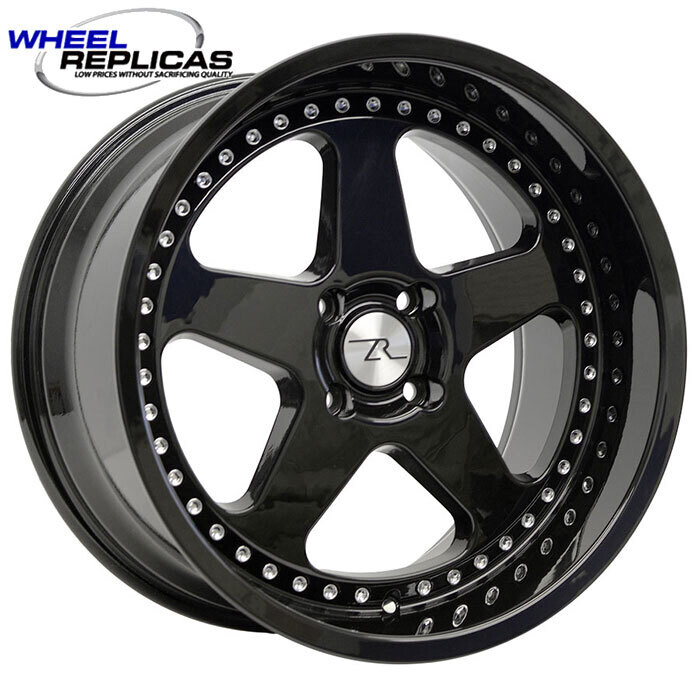 18x10 Jet Black SC Motorsport Style Wheel 4 Lug