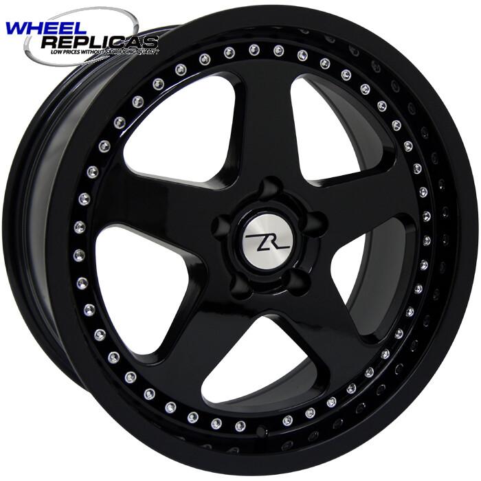 17x9 Jet Black SC Motorsport Style Replica Wheel