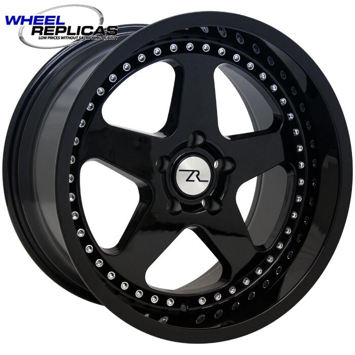 17x10 Jet Black SC Motorsport Style Replica Wheel
