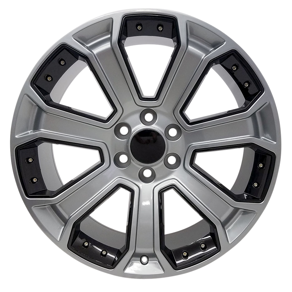 22x9 Denali Style Replica, Gunmetal with Gloss Black Inserts