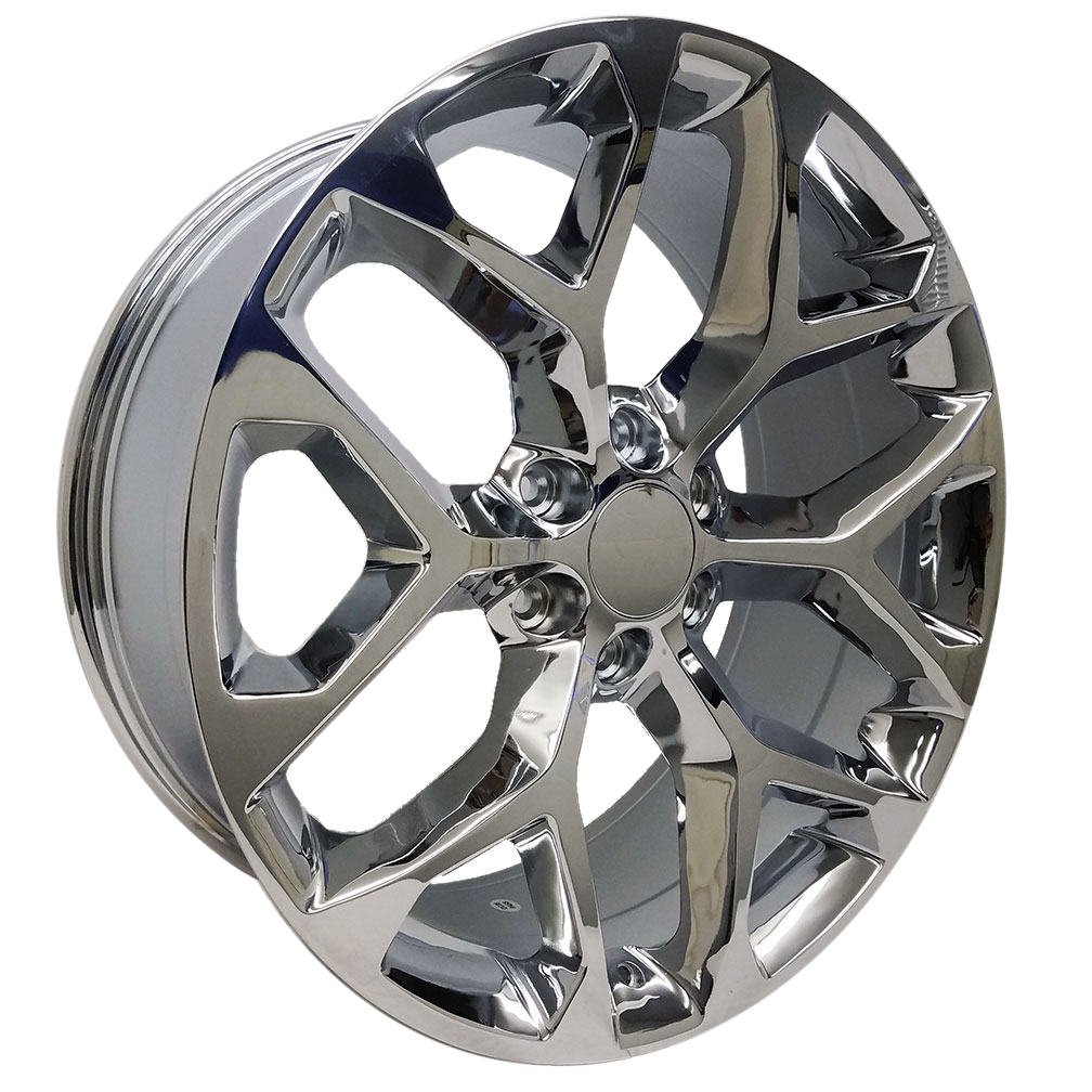 22x9 Snowflake Style Replica, Chrome Plated
