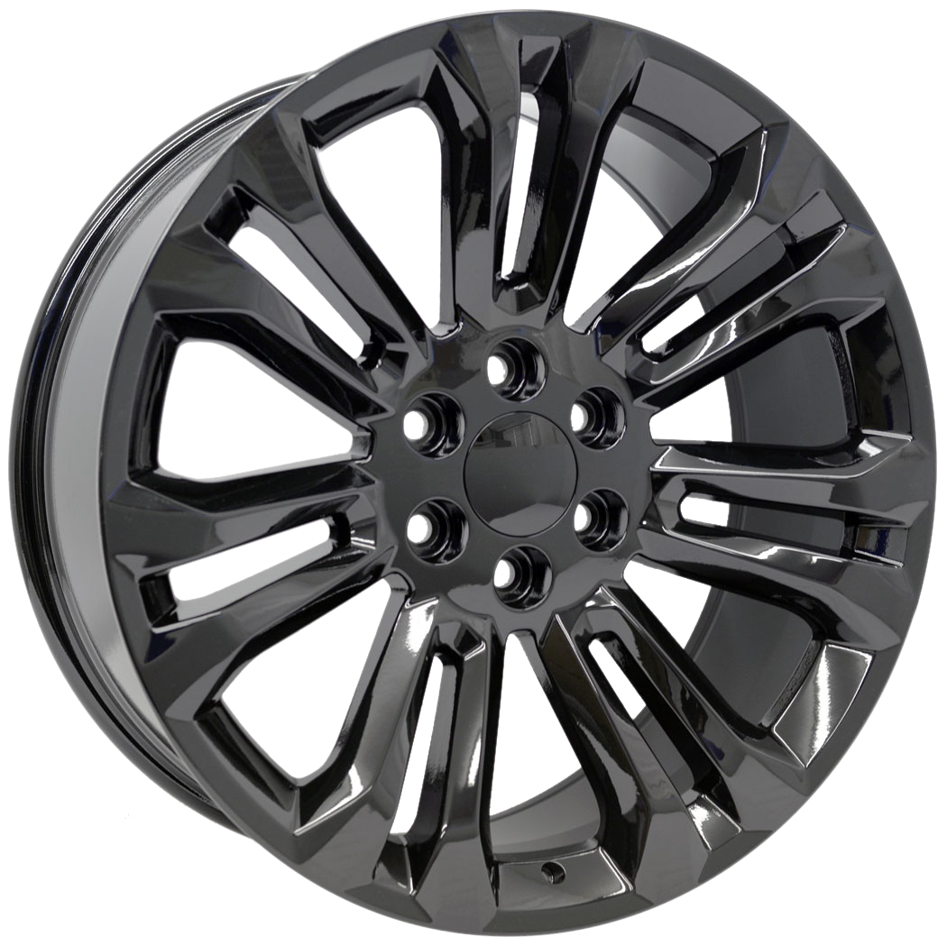 22x9 Sierra Split 7 Spoke Style Replica, Gloss Black