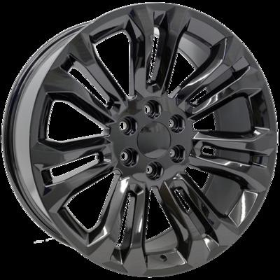 22x9 Sierra Split 7 Spoke Style Replica, Gloss Black