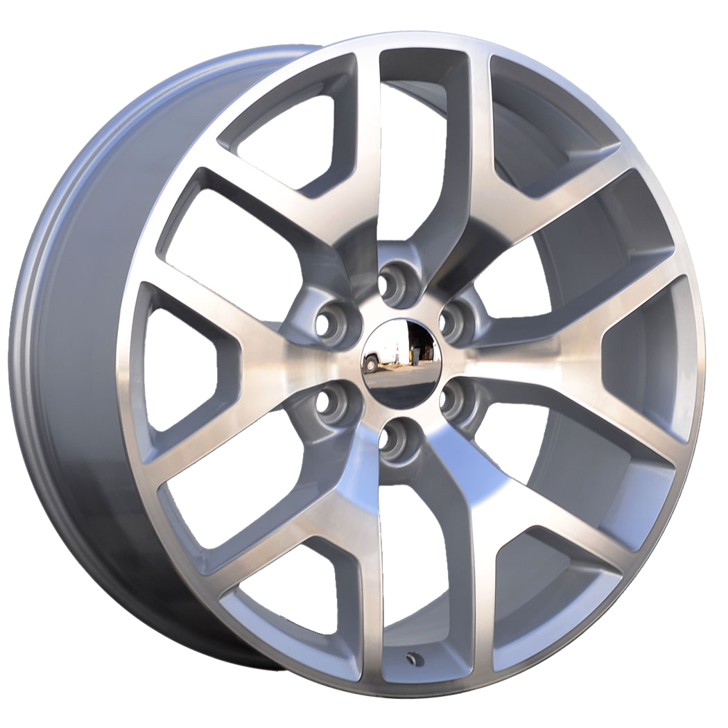 24x9.5 Honeycomb Style Replica, Gloss Silver, CNC Machined Face