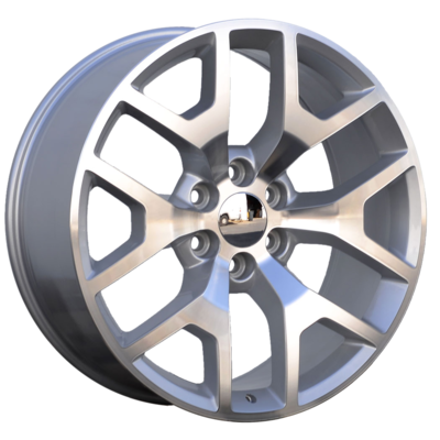 22x9 Honeycomb Style Replica, Gloss Silver, CNC Machined Face