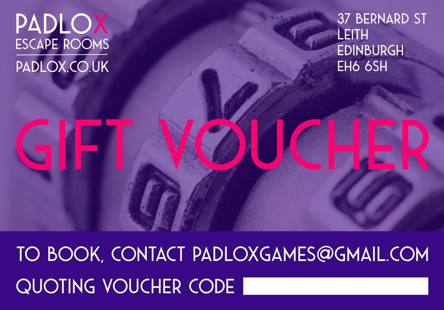 Gift Voucher (4-5 players)