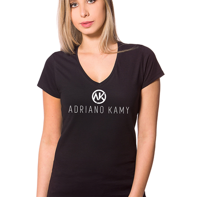 Camiseta Feminina preta - mod. 3