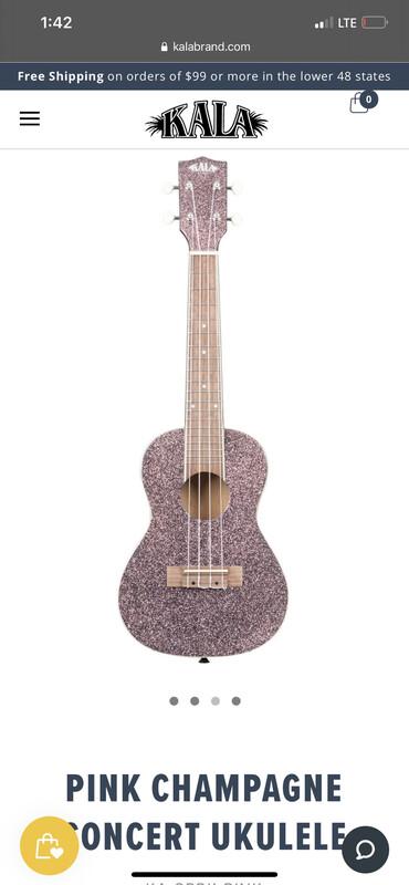 Kala glitter ukulele