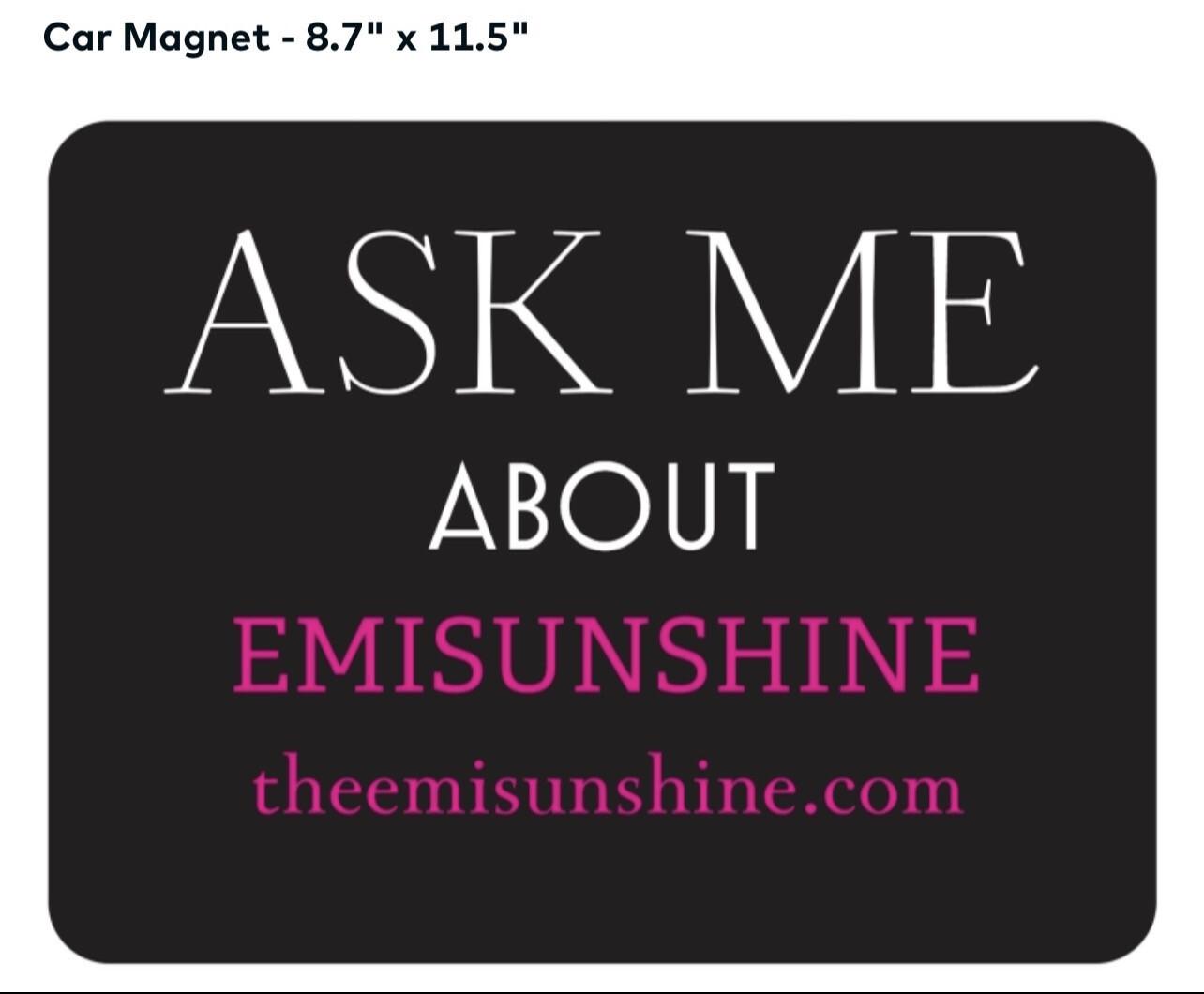 Official EmiSunshine Car magnet