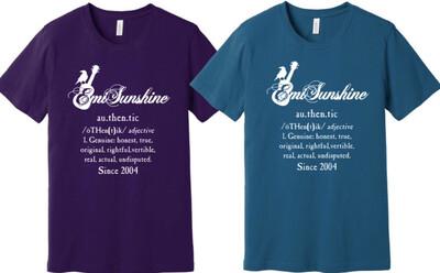 Support Emi T-Shirts Purple Large