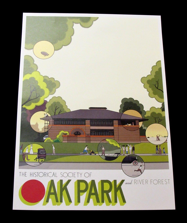 Chris Ware Heurtley House Poster (Oak Park)