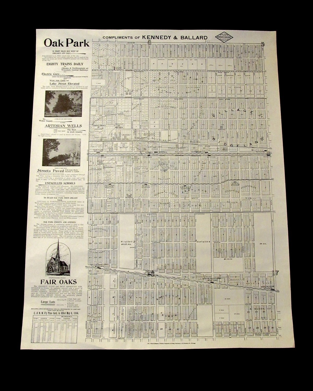 1894 Map of Oak Park