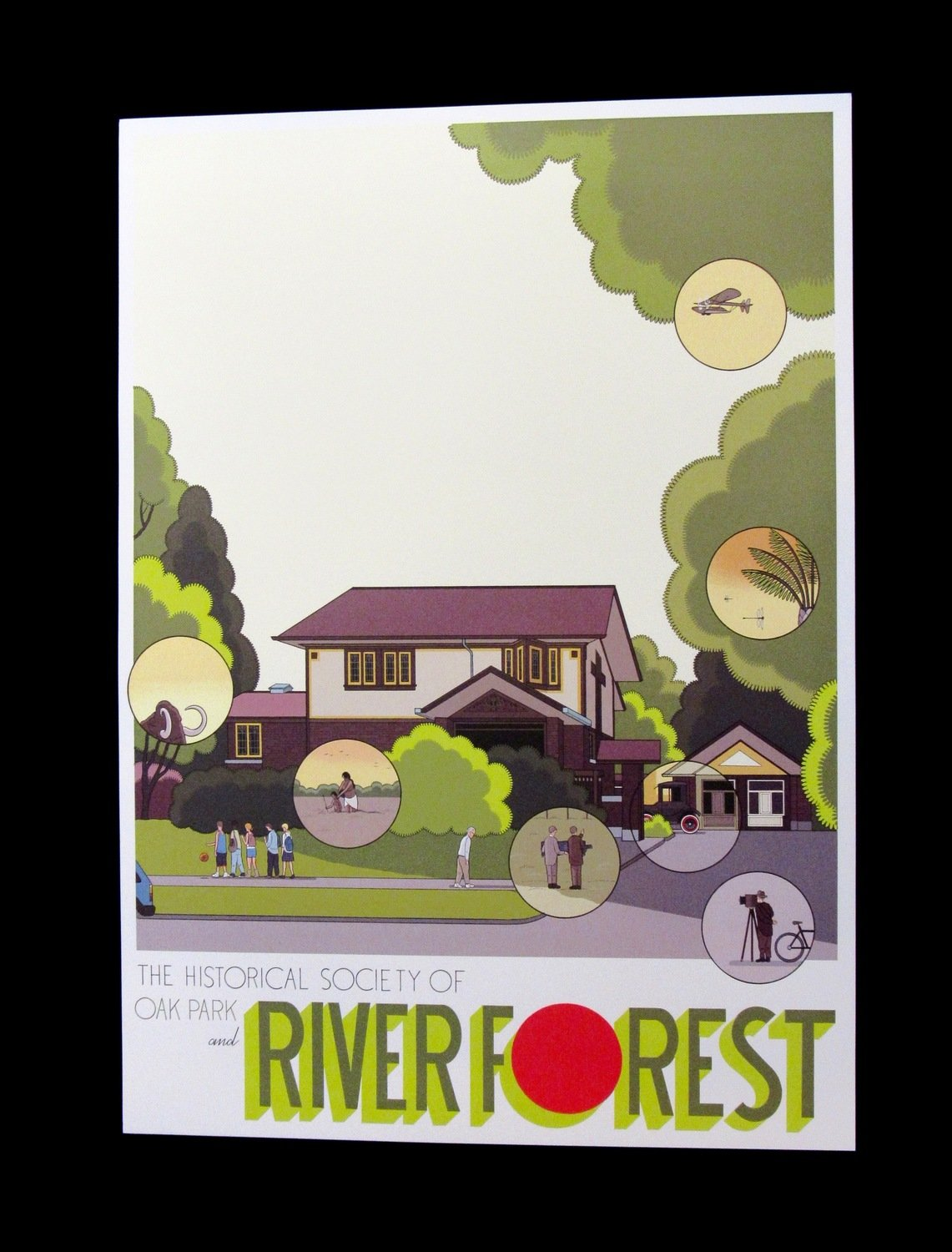 Chris Ware Purcell House Poster (River Forest)