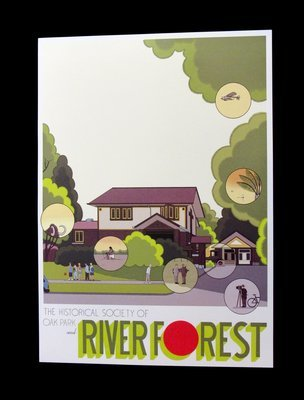 Chris Ware Purcell House Poster (River Forest) (Signed)