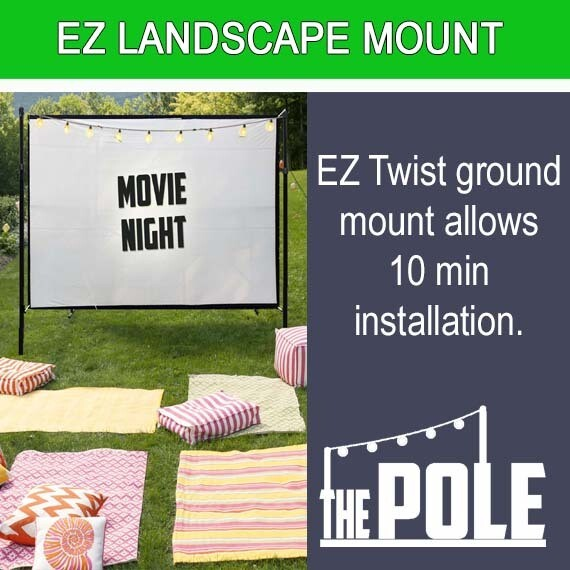 The POLE-String Light Pole - EZ Twist 10 Minute Ground Mount Package