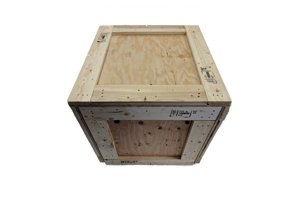 Large Heat Treated Wood Shipping Crate 48 x 48 x 48