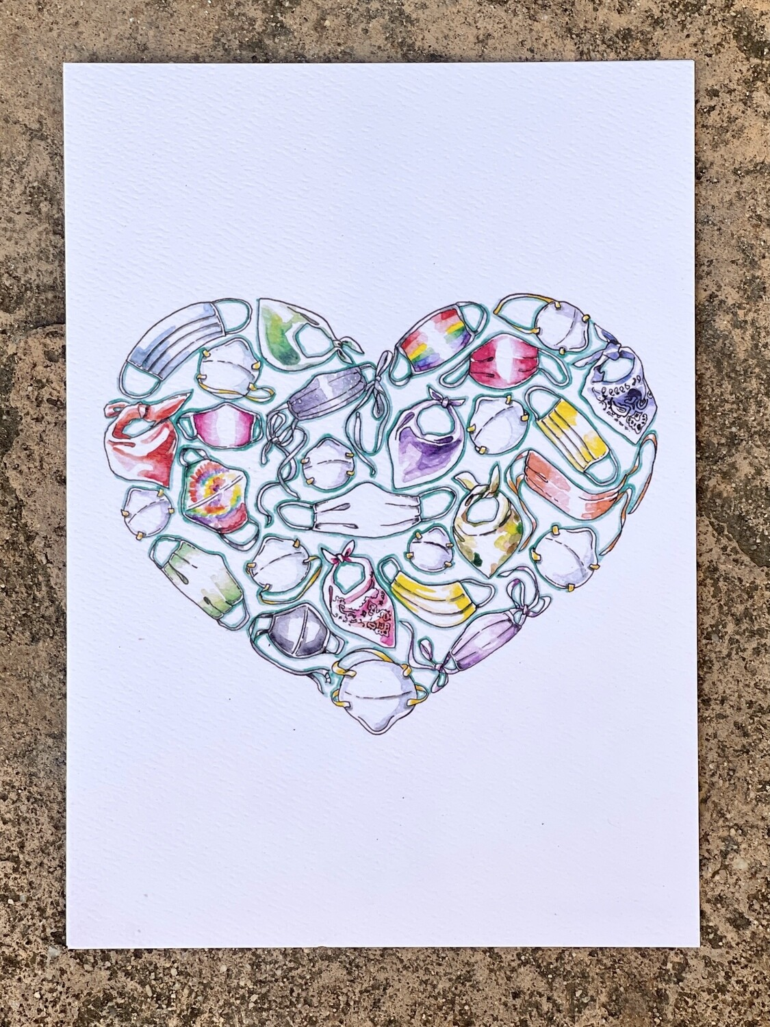 Cover With Love mini print