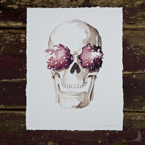 St. Stephen Skull & Fleurs Giclée