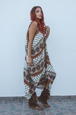 Harem Dress - Dune Print