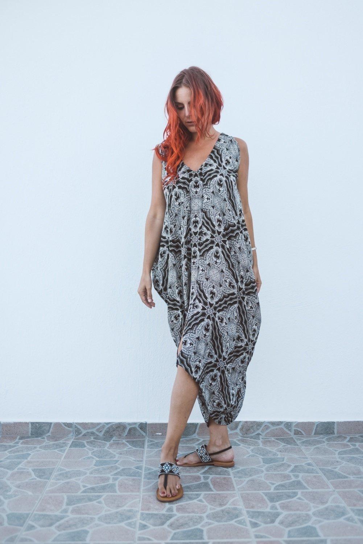 Harem Dress - Starlight Print 00003