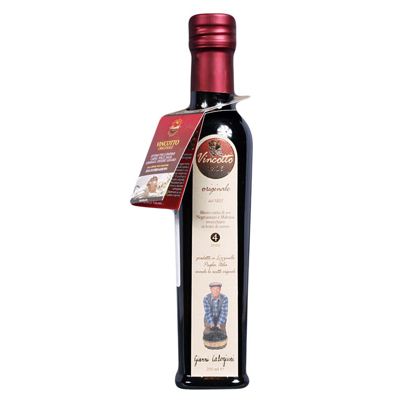 Alkuperäinen Vincotto-etikkakastike (4 vuotta vahna) | Original Vincotto | CALOGIURI | 250 ML