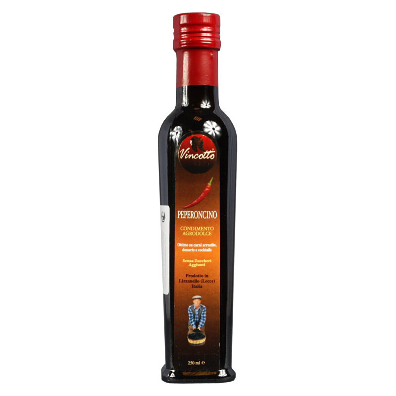 Chilipohjainen Vincotto-etikkakastike | Hot Pepper Vincotto | CALOGIURI | 250 ML