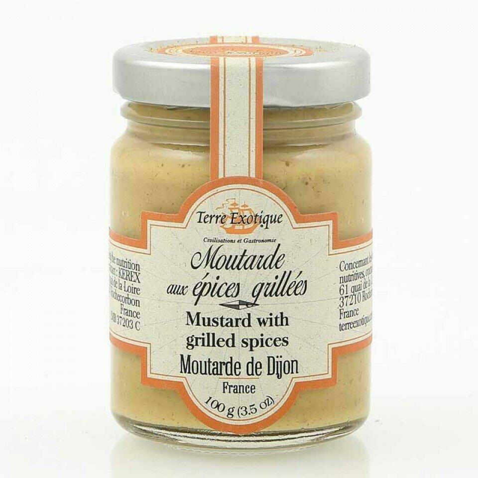 Dijon Sinappi Paahdetuilla Mausteilla | Dijon Mustard With Roasted Spices | TERRE EXOTIQUE | 100 G