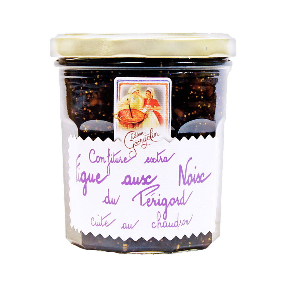 Punaviikuna & Saksanpähkinähillo Extra | Red Fig And Walnuts Extra Jam | LUCIEN GEORGELIN | 350 G