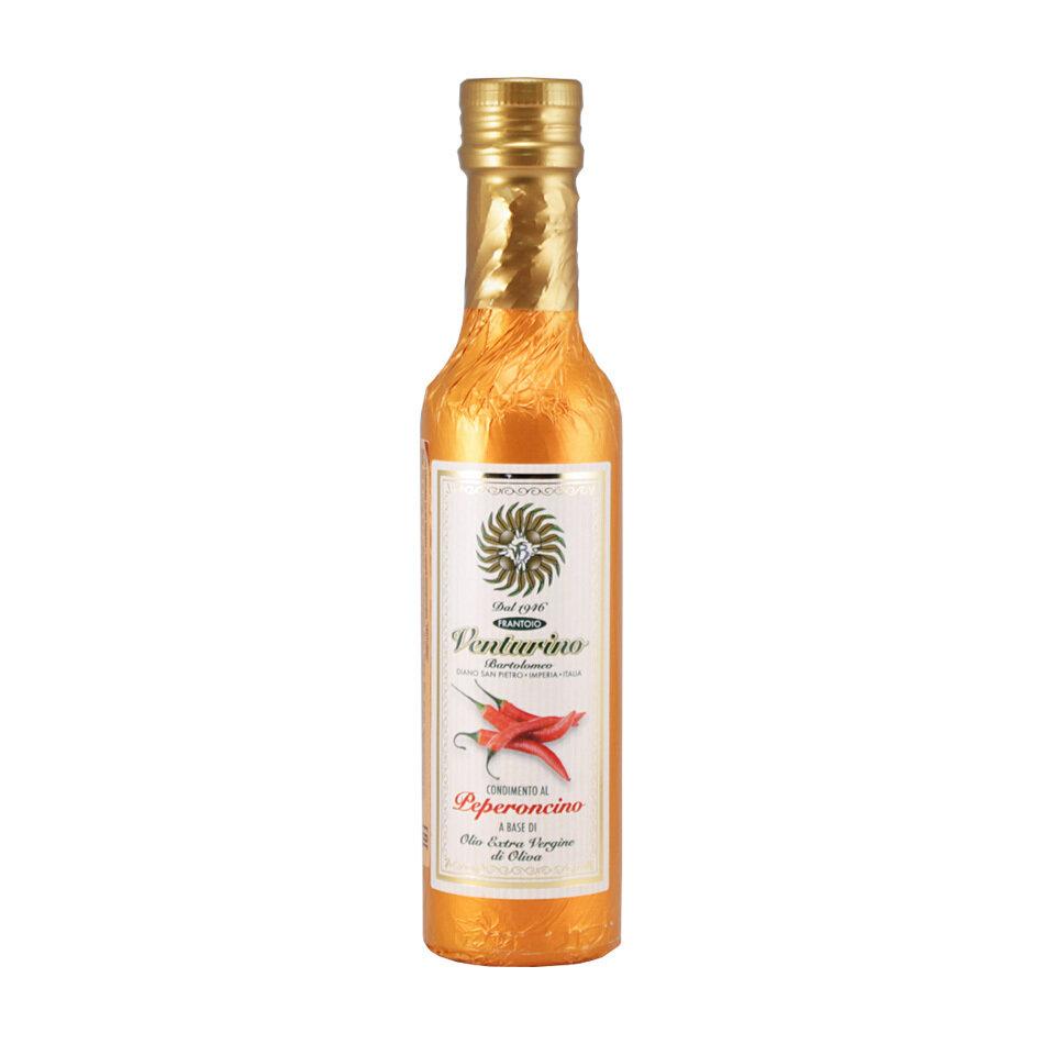 Ekstraneitsytoliiviöljy ja Chili | EVOO with Peperoncino | VENTURINO | 250ml
