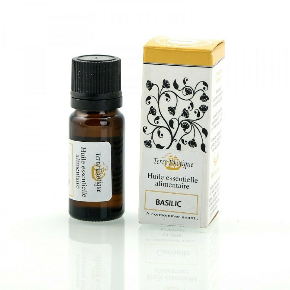 Basilika, Luomu Eteerinen Öljy   Organic Essential Oil, Basil   TERRE EXOTIQUE   10 ML