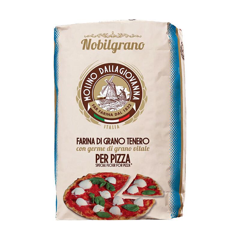 "Pizzajauho ""0"" N Blue Nobilgrano W-300 | Pizza Flour ""0"" N Blue Nobilgrano | MOLINO DALLAGIOVANNA | 25 KG"