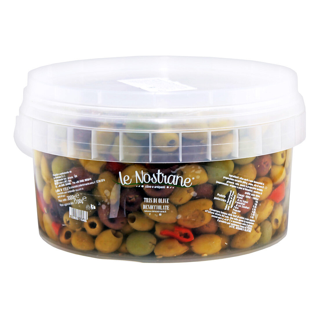 Trio Of Italian Pitted Olives | LE NOSTRANEN | 3kg
