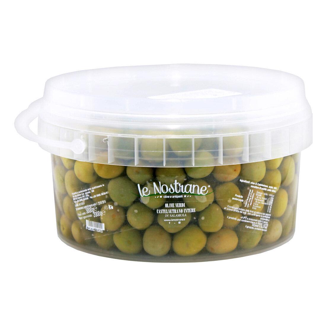 Castelvetrano Kivelliset Oliivit | Castelvetrano Whole Olives | LE NOSTRANEN | 3 KG