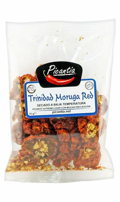 Kokonaiset Kuivatut Trinidad Moruga Punaiset Paprikat | Whole Dried Trinidad Moruga Red Peppers | PICANTIA | 10 G