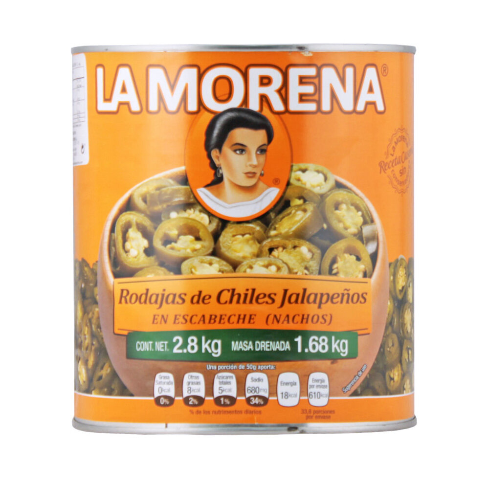 Viipaloidut Jalapenot | Sliced Jalapeno Chile Peppers | LA MORENA | 2,8 KG