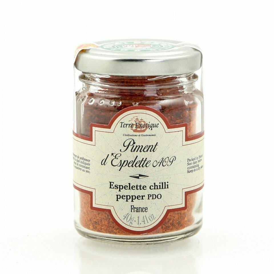 Espelette Chilipippurijauhe AOP | Espelette Chilli Pepper Powder PDO | TERRE EXOTIQUE | 40g