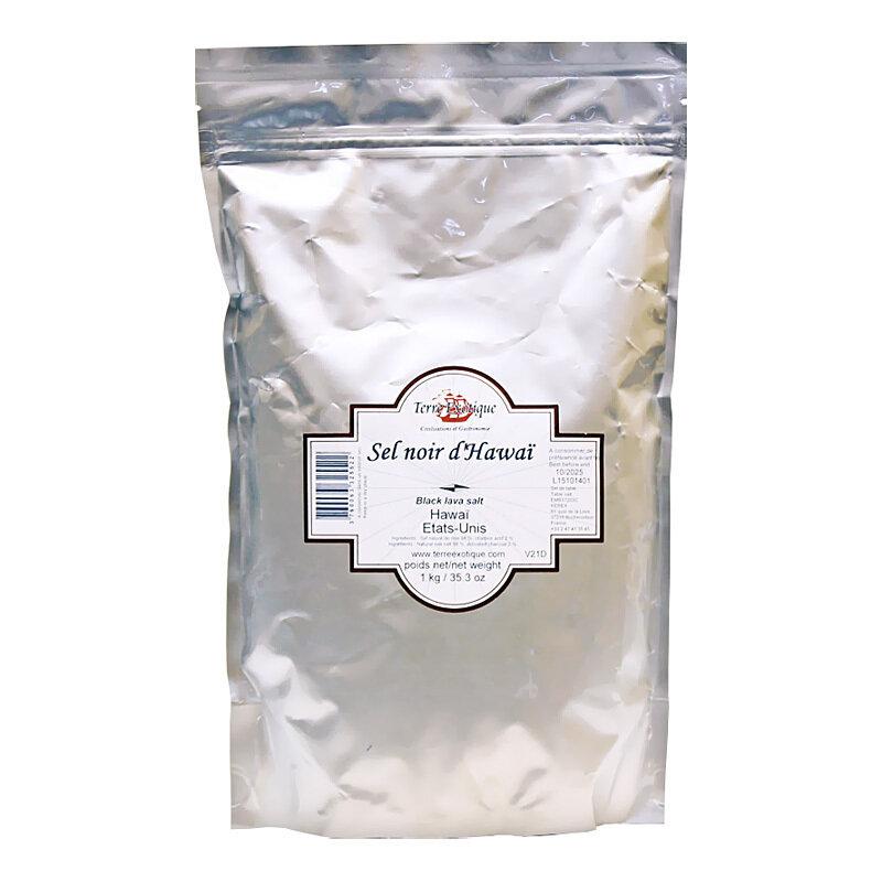 Havaijin Musta Suola | Hawaiian Black Salt | TERRE EXOTIQUE | 1 kg